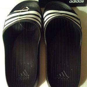 uk availability 53e92 65965 adidas Shoes - Adidas Duramo Slide Sandals - BlackWhite Men 11